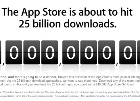 25 миллиардов загрузок в Apple App Store