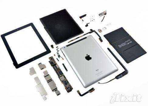 Новый iPad (LTE32GB) стоит $364.35 в разборе, но продаётся за $729