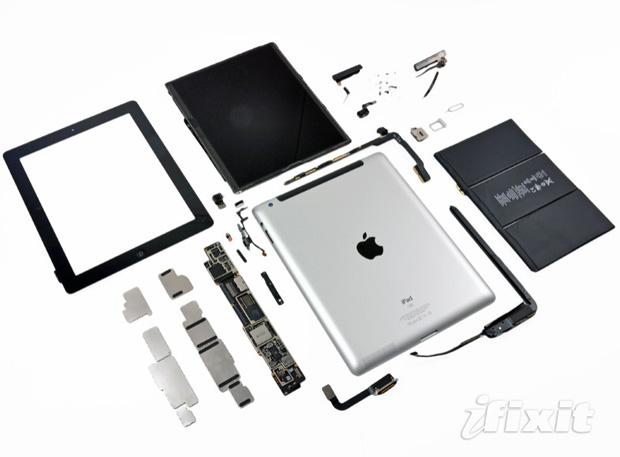 новый ipad в разборе