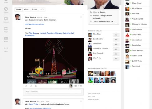 Редизайн Google Plus