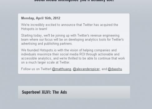 Twitter приобретает Hotspots.io