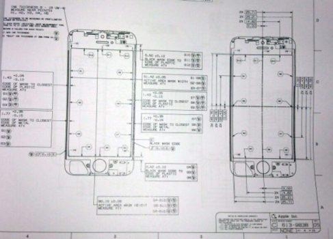 В сети появилась инженерная схема нового iPhone