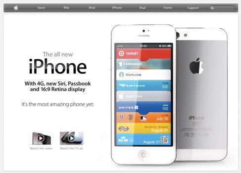 Возможно так будет выглядить страница нового iPhone