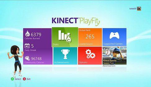 Апп для XBox 360 считает калории, которые сжигаются при игре с Kinect