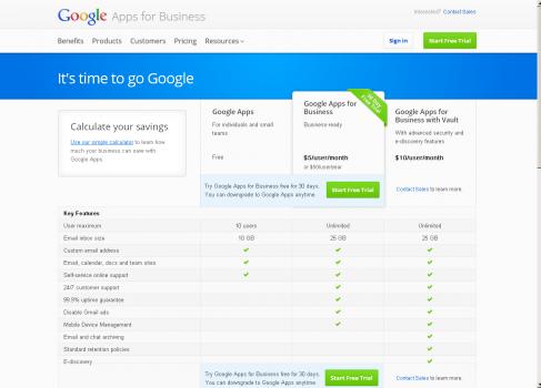 Беcплатных Google Apps не будет?