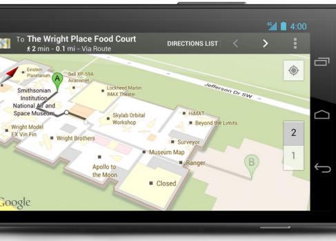 Google добавил более 20 музеев к indor maps