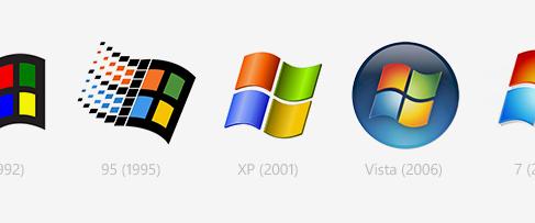 Логотипы Windows: этапы развития