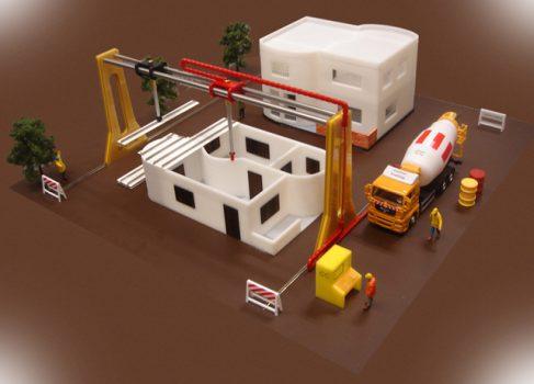 Гигантский 3D-принтер для печати… домов