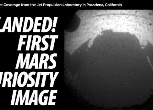 Mars Curiosity благополучно приземлился на Марсе, передав первое изображение