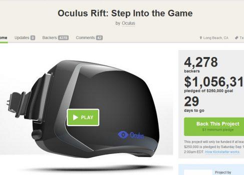 VR-шлем Oculus Rift бьет рекорды финансирования на Kickstarter