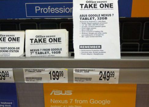 Большая утечка: Google Nexus 7 32Gb, Nexus 4 и Nexus 10