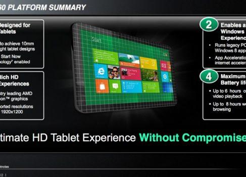 AMD готовит платформу для собственного планшетника