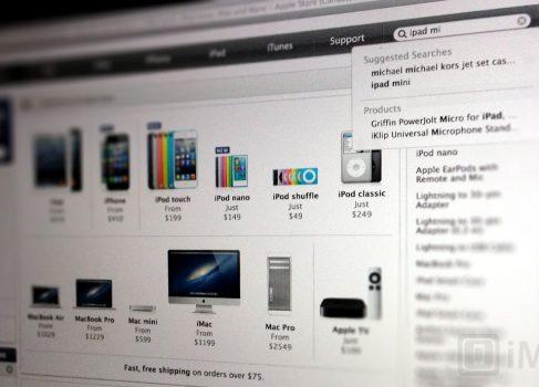 iPad mini появился в поиске на сайте Apple