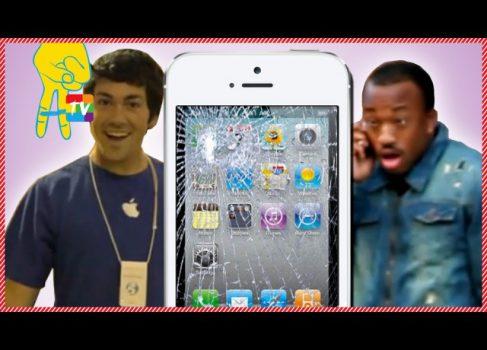 Экстремальный флэшмоб или как разбить коробку iPhone5 перед Apple Store [юмор]