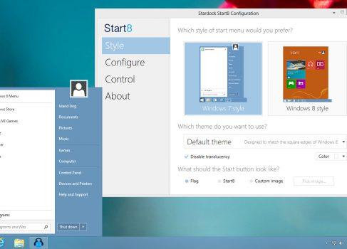 Первая коммерческая версия Start8 для Windows 8