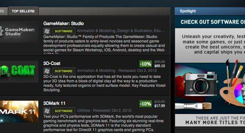 На Steam появился неигровой софт