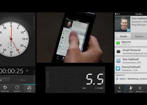 «Однорукий» интерфейс Flow в Blackberry 10 [видео]