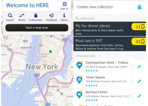 Nokia HERE для iOS доступны пользователям