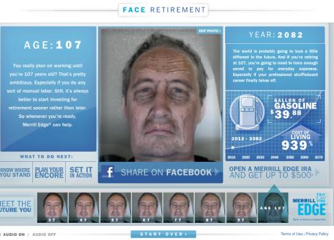 Face Retirement познакомит вас с самим собой в старости