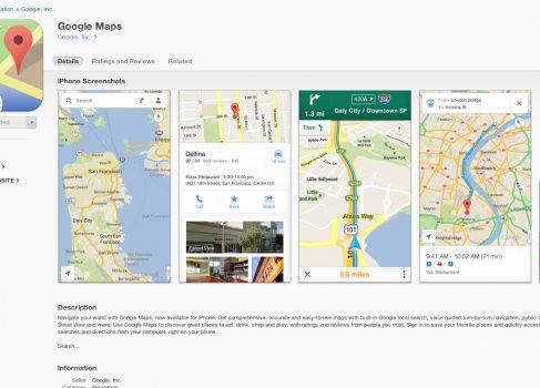 Google Maps для iOS 6 скачали более 10 миллионов раз за 48 часов
