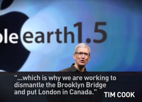 Apple «подгонит» земную географию под свои карты [юмор]