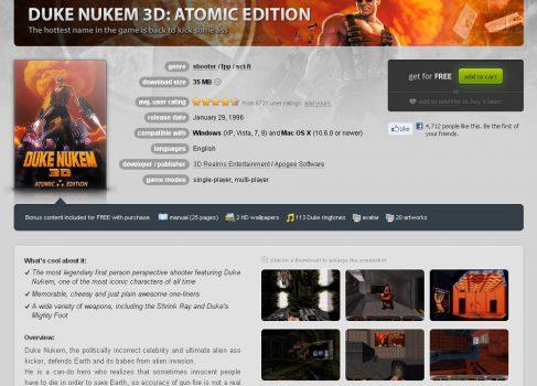 DUKE NUKEM 3D — бесплатно до 14 декабря