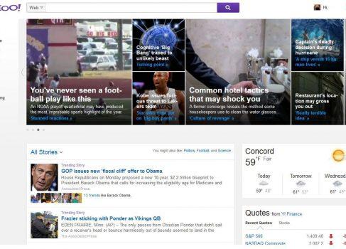 Скриншоты новой главной страницы Yahoo утекли в сеть