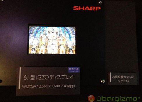 Sharp показала 6-дюймовый IGZO дисплей с экстремальным разрешением