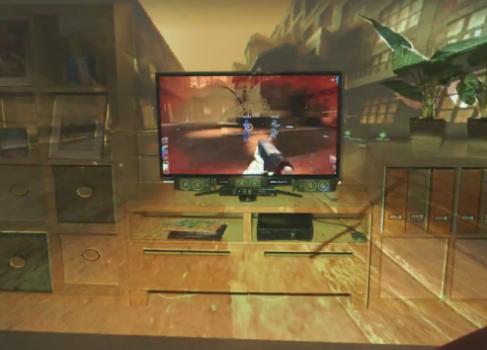 CES-2013: игровая комната IllumiRoom от Microsoft Research [видео]