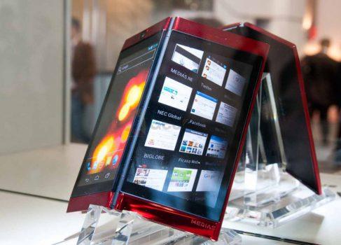 NEC представила двухдисплейный смартфон Medias W