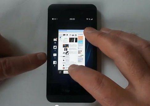 Первое видео BlackBerry Z10