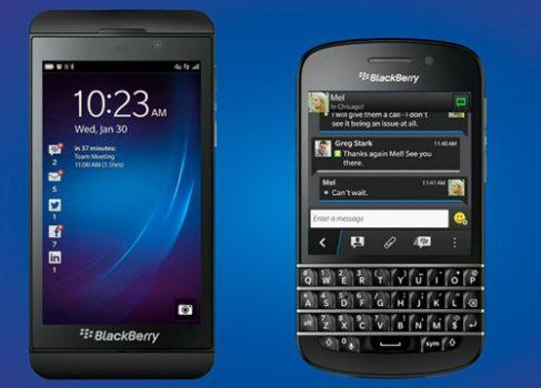 BlackBerry: новые смартфоны Z10 и Q10