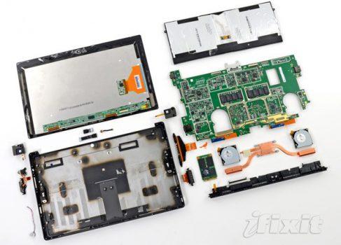На ifixit.com развинтили планшет Surface Pro