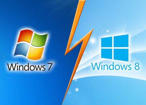Windows 8 набирает обороты, в то время как рыночная доля Windows 7 снижается