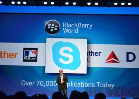 Skype под BlackBerry 10 портирован с Android?
