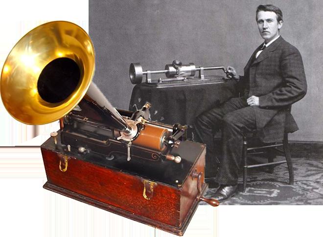 Картинки по запросу 1878 - Начало эры аудиозаписи - Томас Эдисон получил патент на фонограф