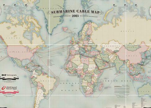 Карта подводных интернет каналов на начало 2013 года
