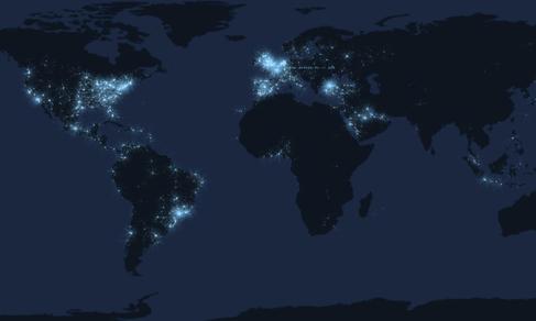 TweetPing — интерактивная карта твиттов в реальном времени