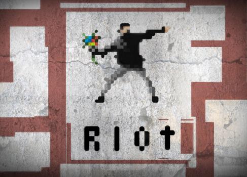 RIOT — симулятор пиксельного анархиста
