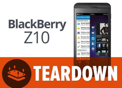 Мозголомы из iFixit разобрали BlackBerry Z10