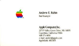 Бывший шеф Android до сих пор хранит визитку Apple