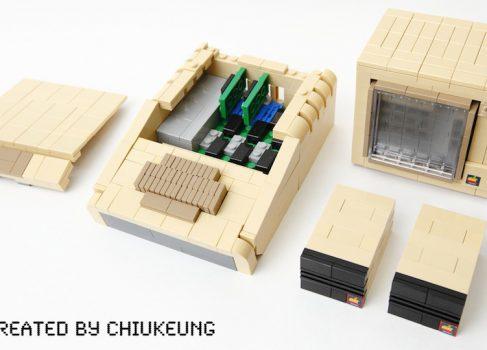 Apple II собранный из Lego