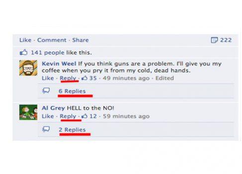 Facebook вводит древовидные комментарии