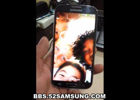 Первое видео SAMSUNG Galaxy S IV