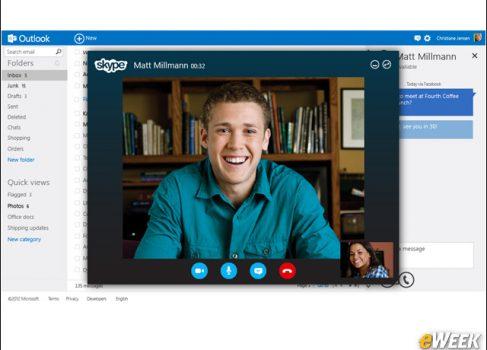 В Outlook.com встроили Skype