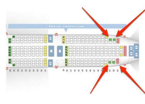 Самые популярные места в самолёте находятся… в хвосте