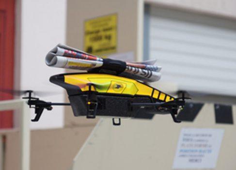 Во Франции тестируют доставку газет дронами
