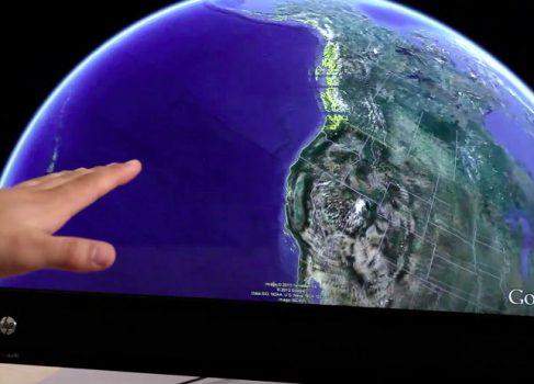 В Google Earth появилась поддержка Leap Motion