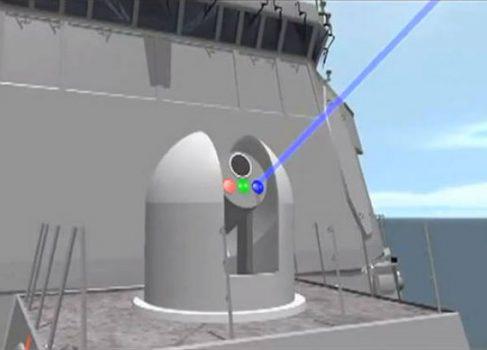 Лазер морского базирования успешно поразил беспилотник [видео]