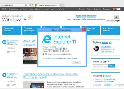 В Internet Explorer 11 будет поддержка WebGL